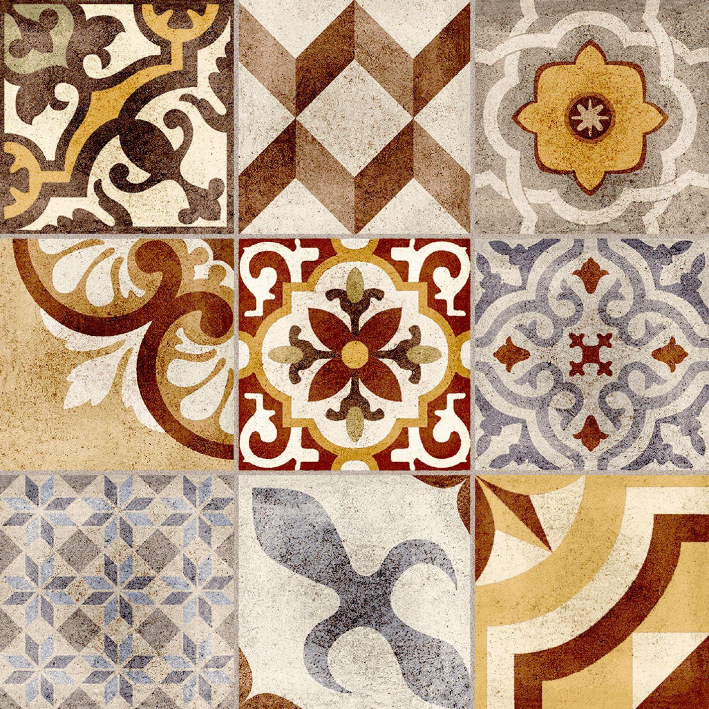 Mosaico portugu s 61 x 61 cm porcellanato hd for Mosaico ceramica